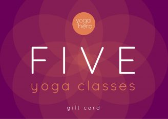 Yoga Hero Five Class Gift Voucher