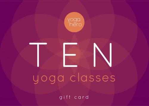 Yoga Hero Gift Voucher Ten Class Pass