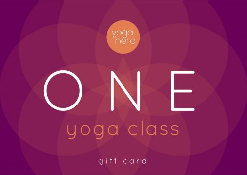 Yoga Hero Gift Voucher One Yoga Class