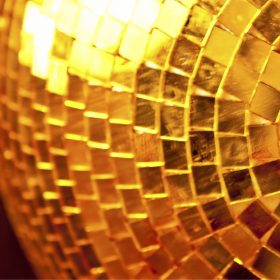 Shimmy to Savasana disco ball