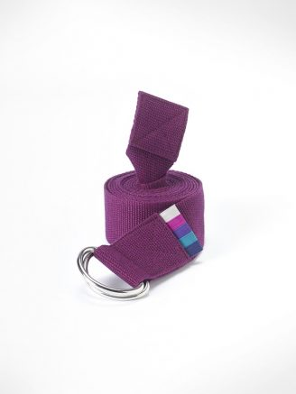 Yoga strap belt berry