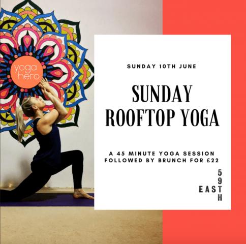 Rooftop yoga brunch