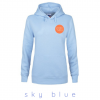 sky blue hooded sweatshirt