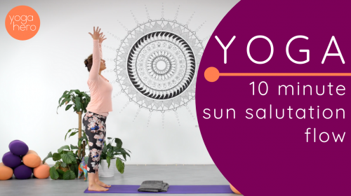 Rachel 10 minute sun salutation flow