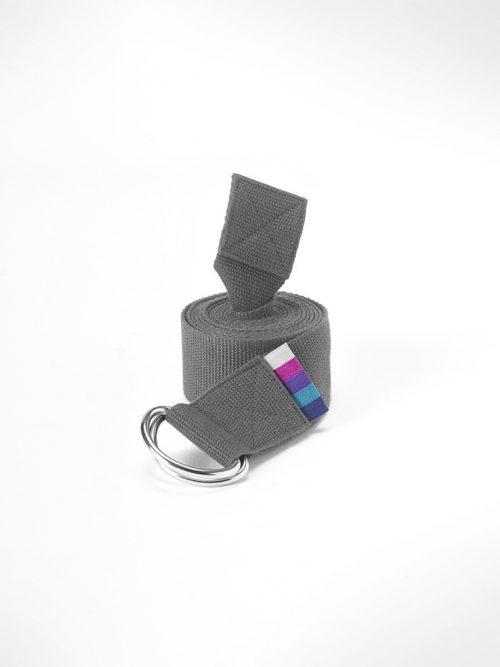 Yoga strap belt grey